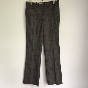Calvin Klein Black Plaid Pants